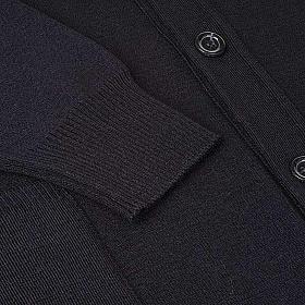 Giacca lana con bottoni nero s4