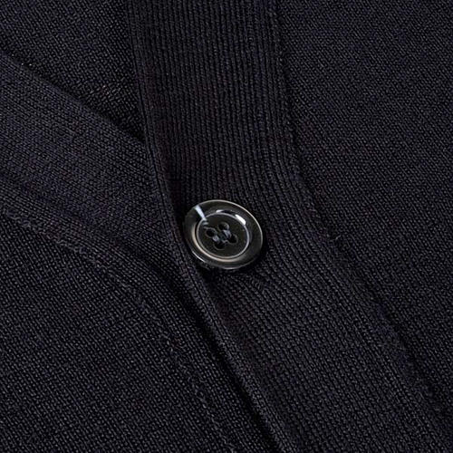 Black woolen jacket with buttons 3