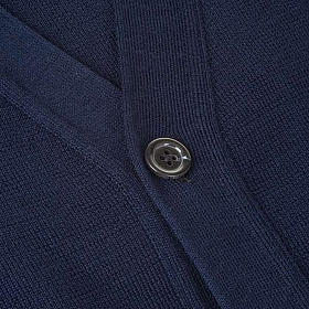 Jacke Wolle mit Knopfe Blau s3