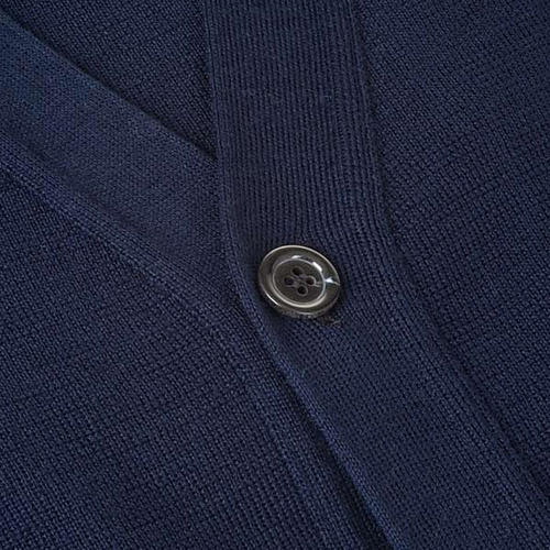 Jacke Wolle mit Knopfe Blau 3