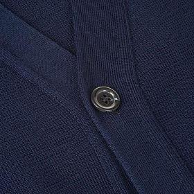 Sweter wełniany zapinany na guziki granatowy s3