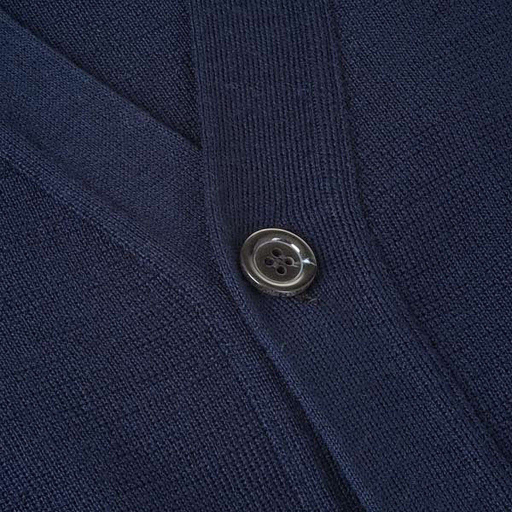Blue woolen jacket with buttons 4