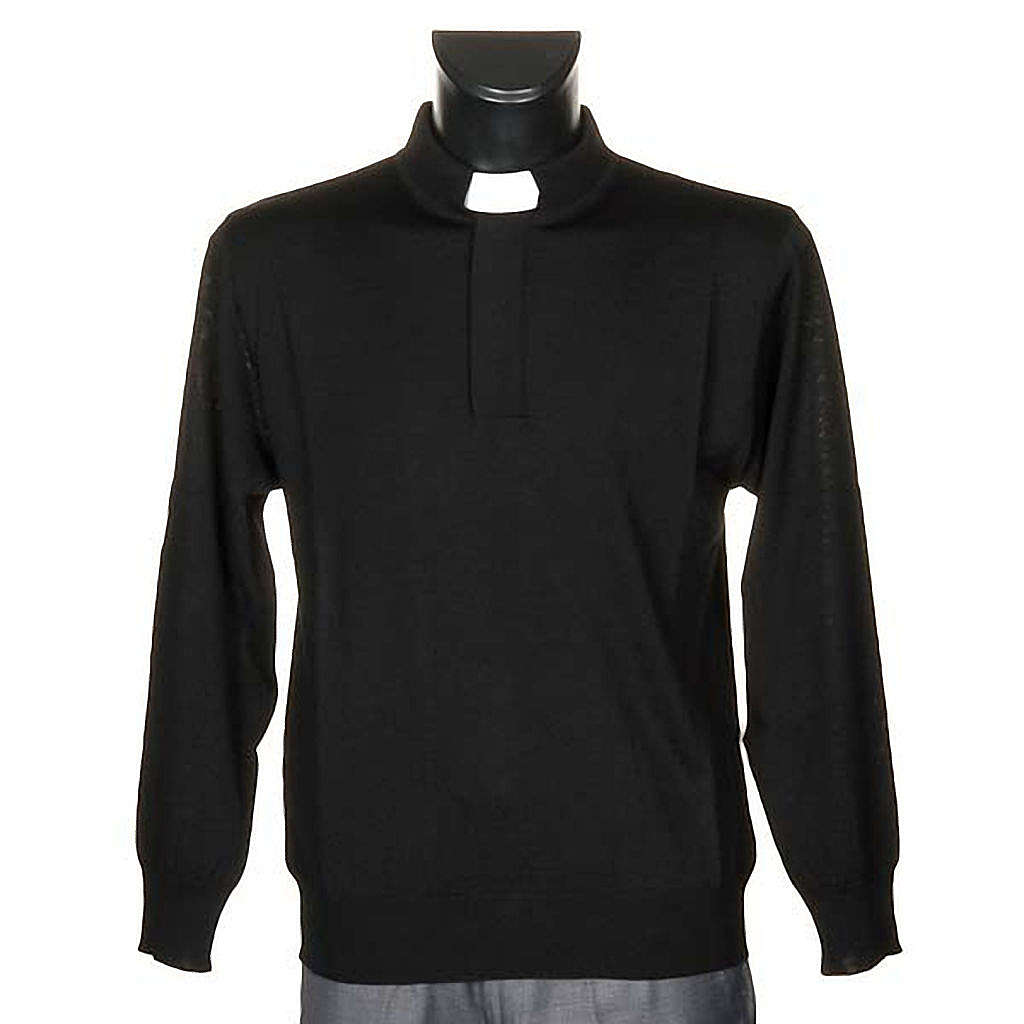 Polo clergy nera 4