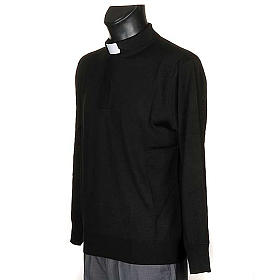 Polo clergy nera s2