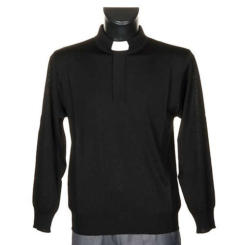 Polo clergy nera 1