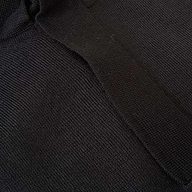 Polo clergy nera maglia calata s3