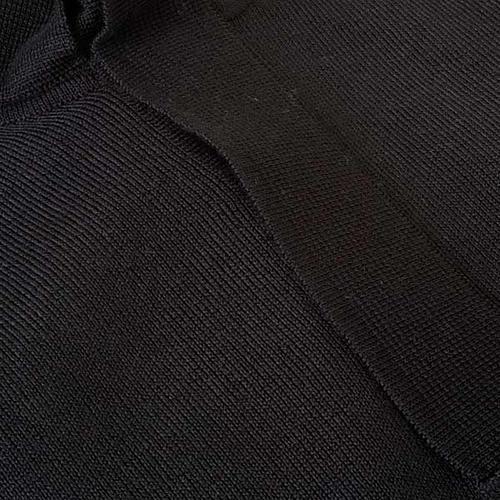 Polo clergy nera maglia calata 3