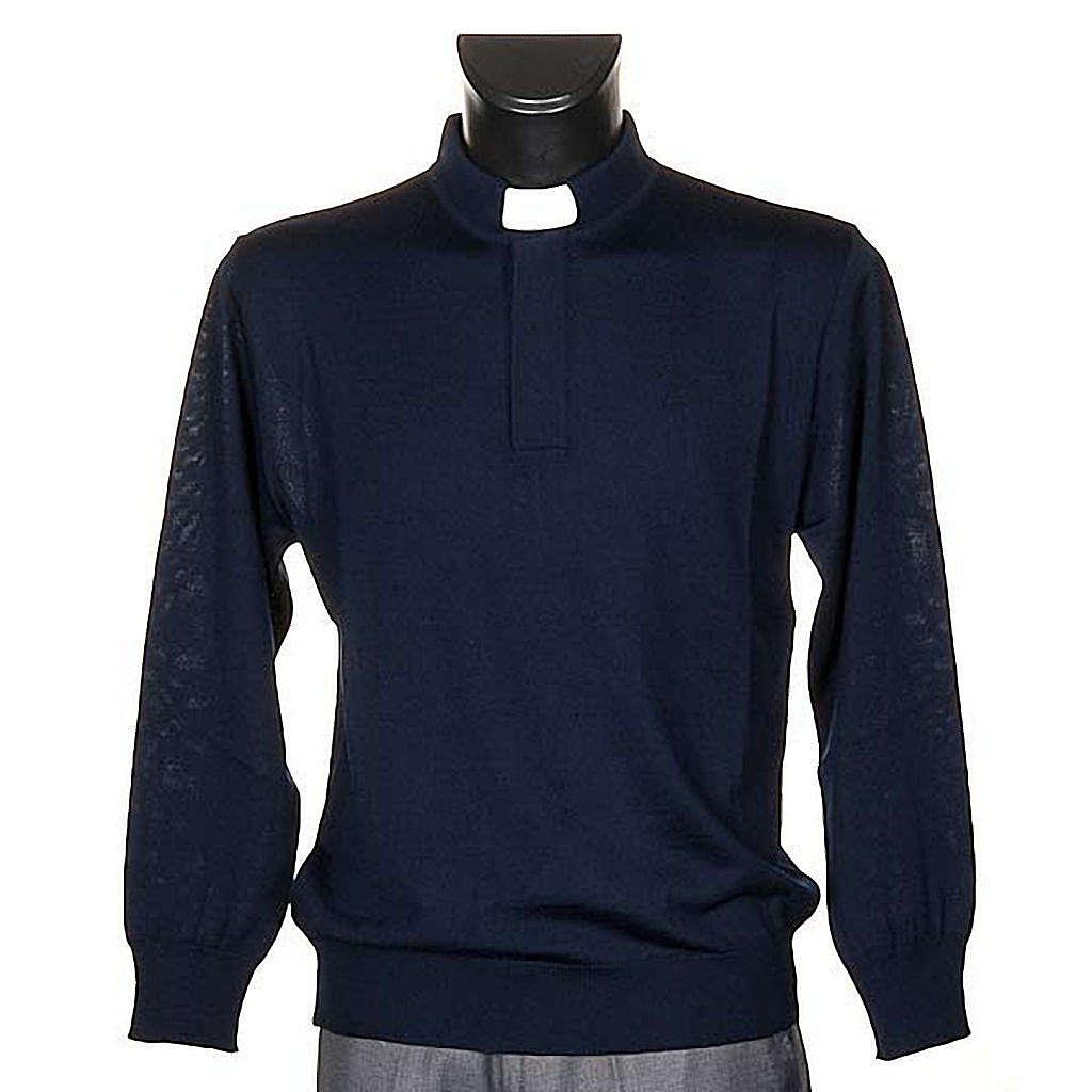 Polo clergy blu 4
