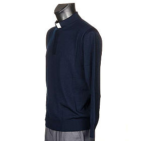 Polo clergy blu s2