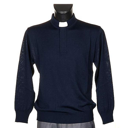 Polo clergy blu 1