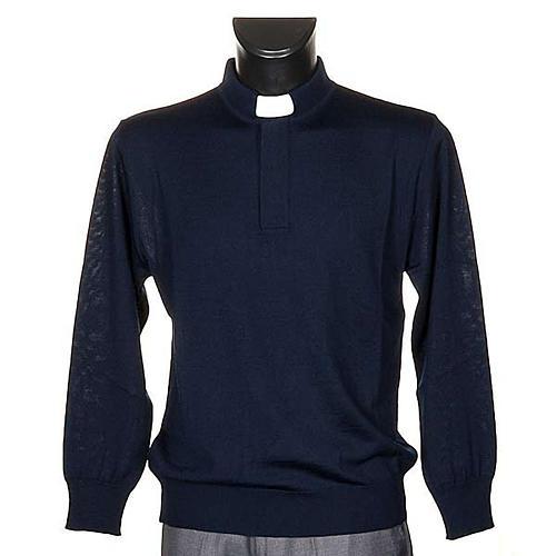 Polo clergy blu 1