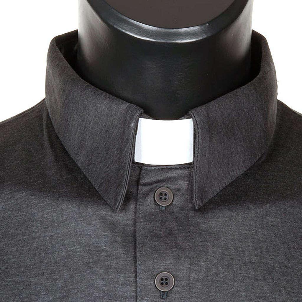 94531d38de Camisa polo gola clássica cinzento escuro fio de Escócia 4