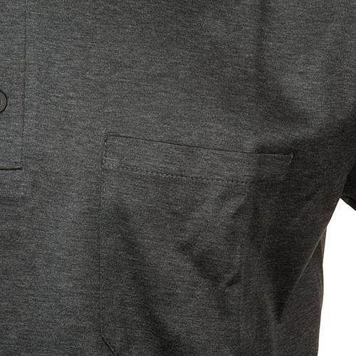 40b080e1 Dark grey Clergy polo shirt lisle thread   online sales on HOLYART.com