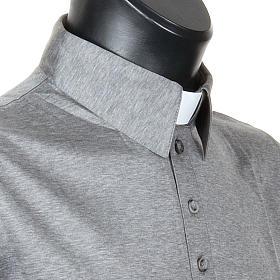STOCK Polo colletto civile grigio chiaro filo di Scozia s5