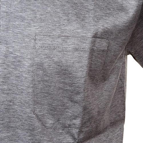 Polo colletto civile grigio chiaro filo di Scozia 3
