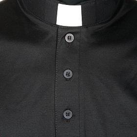 Priesterpolo Kurzarm Florgarn schwarz s3