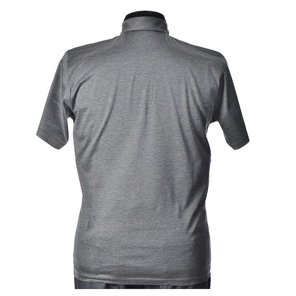 Polo manica corta filo di Scozia  grigio chiaro 4