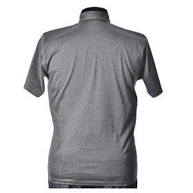 Polo manica corta filo di Scozia  grigio chiaro s3