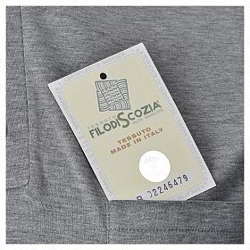 Polo manica corta filo di Scozia  grigio chiaro s5