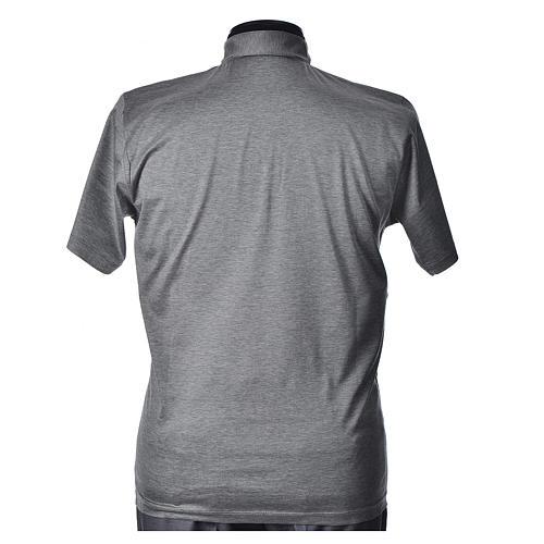 Polo manica corta filo di Scozia  grigio chiaro 3
