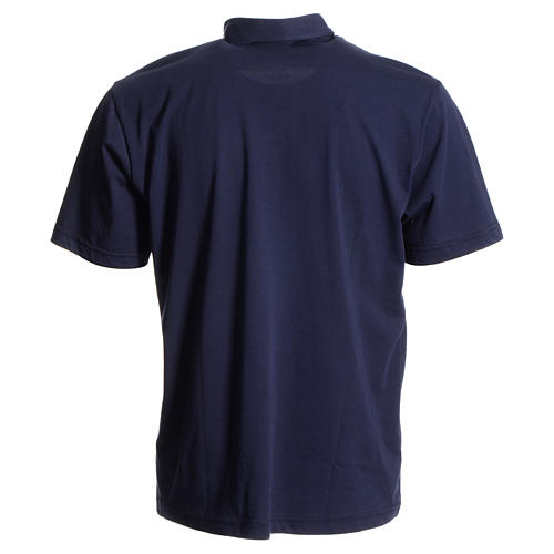 Catholic Priest polo shirt in navy blue, 100% cotton 2