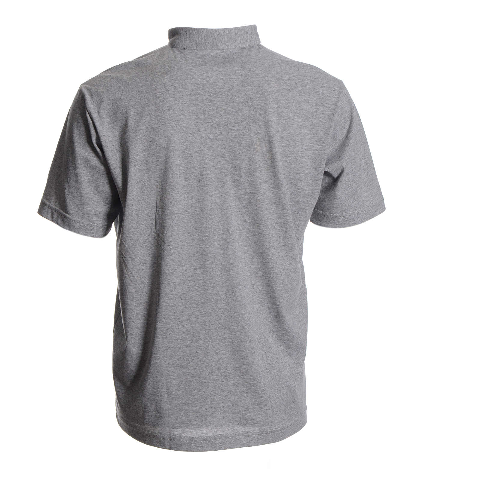 Clergyman polo shirt in grey, 100% cotton 4