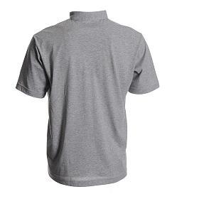 Clergyman polo shirt in grey, 100% cotton s2