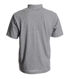 Priest grey polo shirt in cotton s2