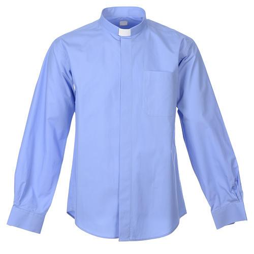 Claire En longues Chemise M Clergy Ligne Sur Vente Mixte Holyart Bleu dP5RPrWy