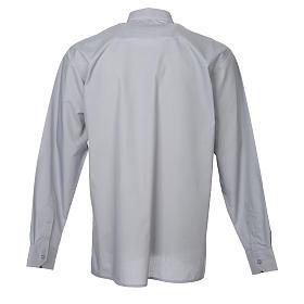 STOCK Camicia clergy manica lunga misto grigio chiaro s2