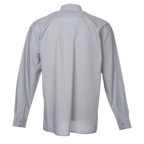 STOCK Camicia clergy manica lunga misto grigio chiaro 2