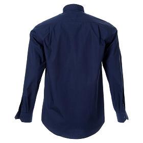 STOCK Koszula kapłańska długi rękaw popelina niebieska s2