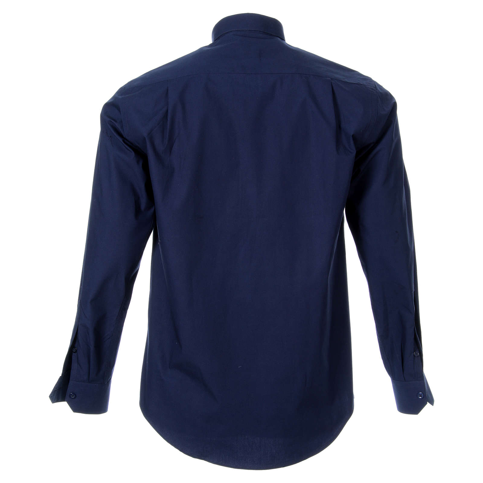 STOCK Clergyman shirt, long sleeves, blue poplin 4