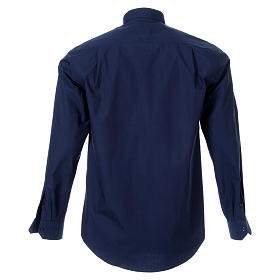 STOCK Clergyman shirt, long sleeves, blue poplin s2