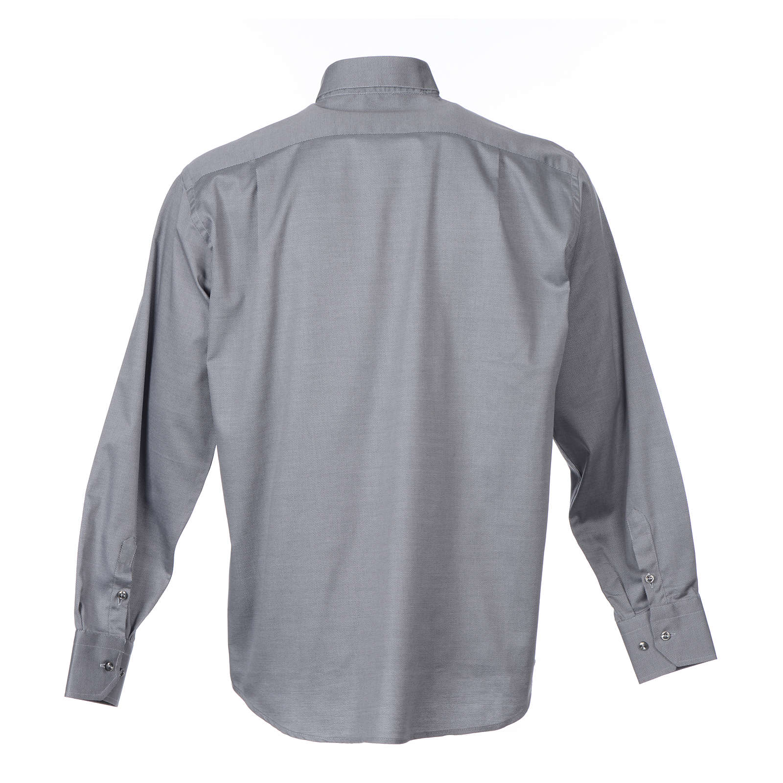 Clerical shirt Long sleeves easy-iron mixed cotton Grey 4