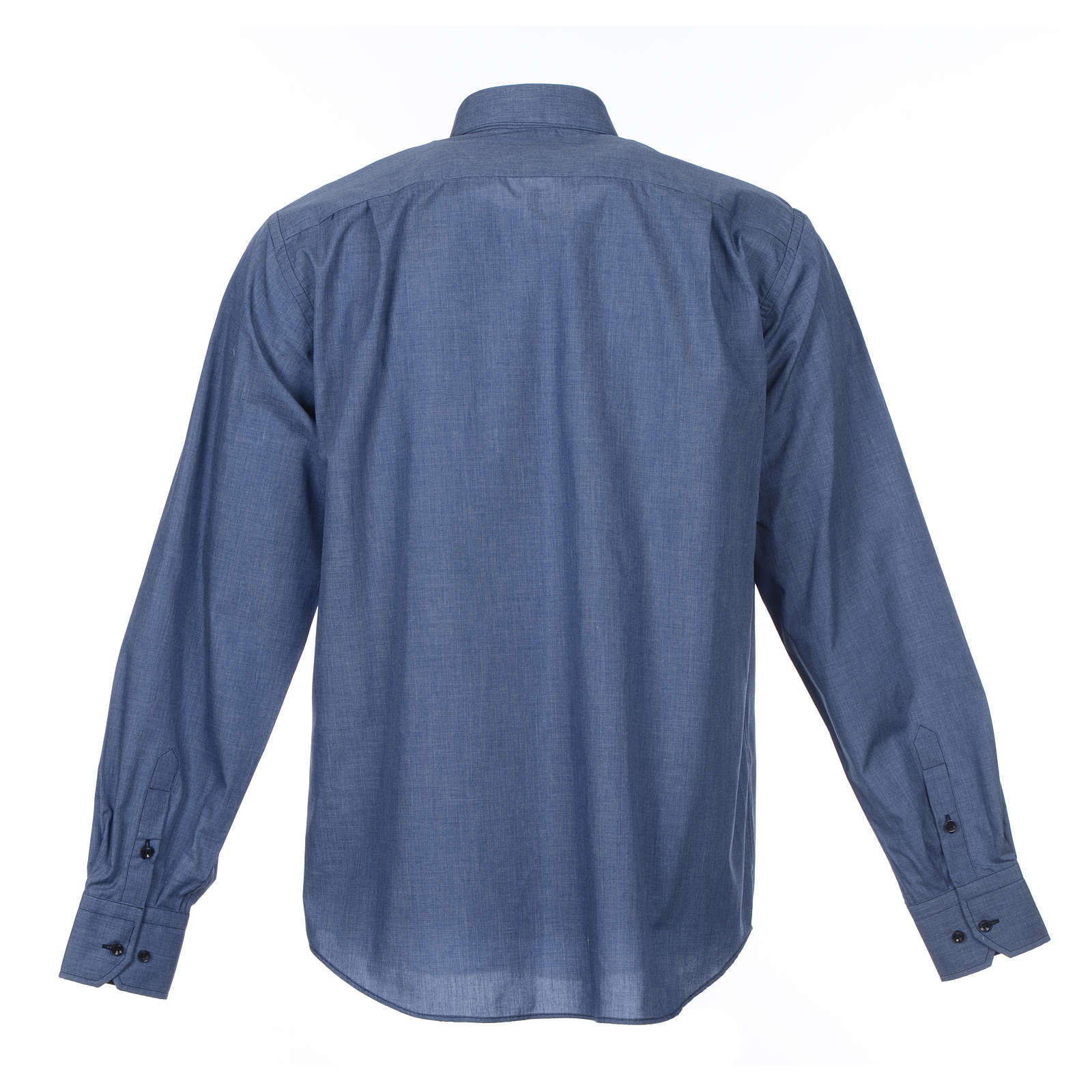 Camicia clergy M. Lunga tinta unita Misto cotone Jeans 4