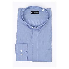 Camisa Clergy Manga Larga Línea Prestige Algodón Azul s3
