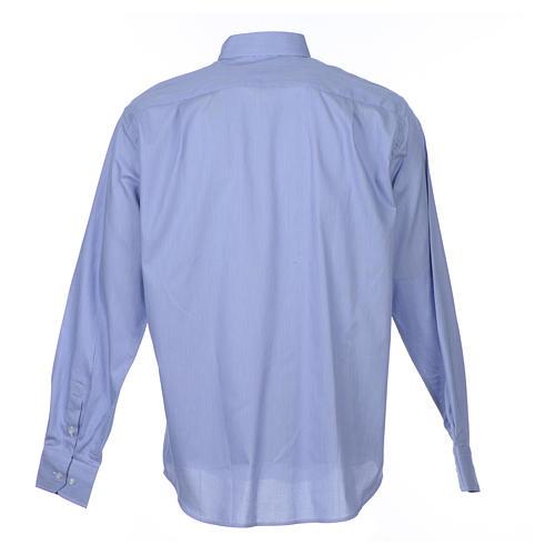 Chemise clergy m. longues Gamme Prestige Coton Bleu 2