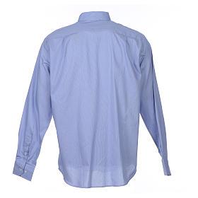 Camicia clergy M. Lunga Linea Prestige Puro Cotone Blu s2