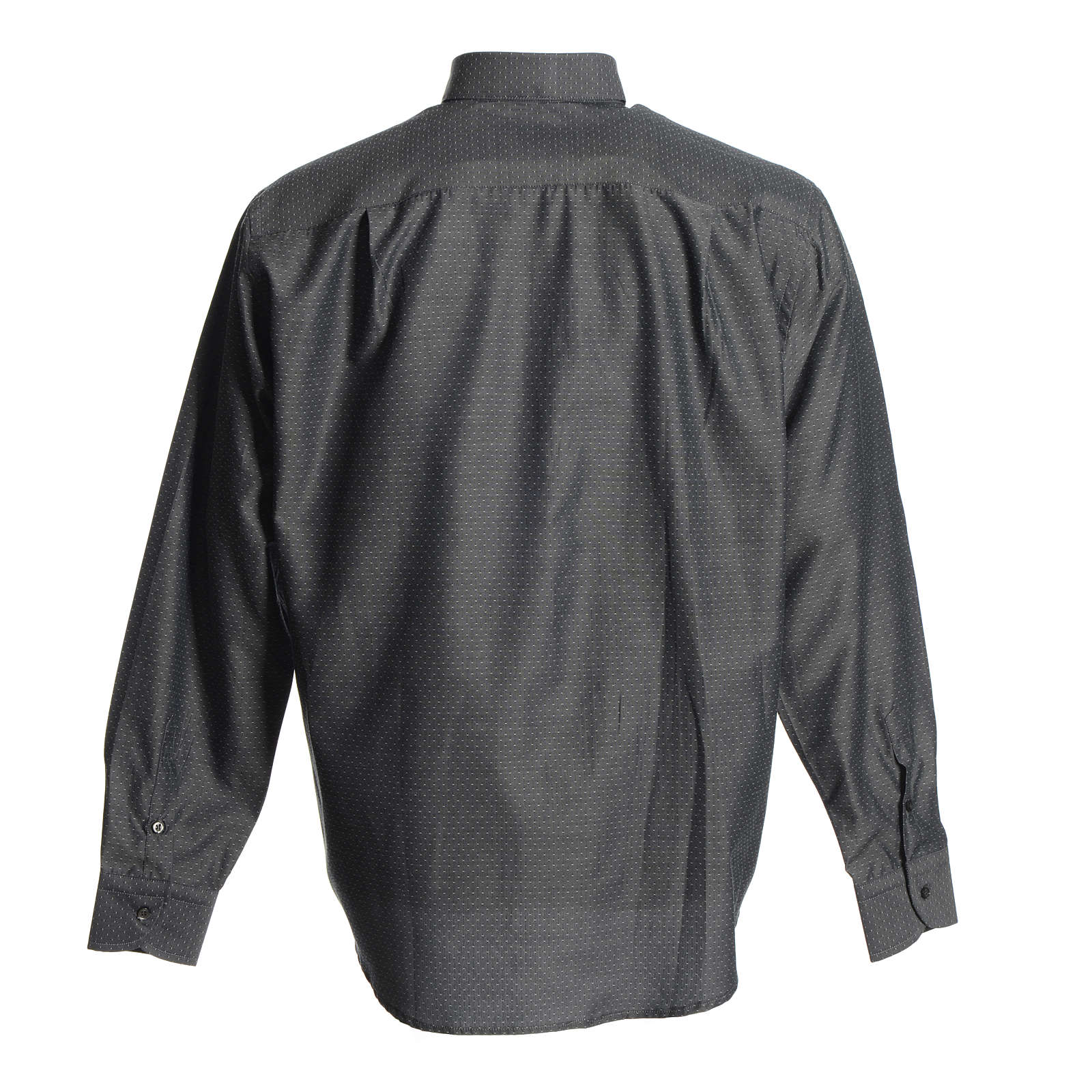 Chemise clergy coton polyester gris 4