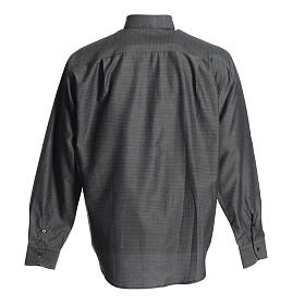 Priest Long Sleeve Shirt in grey polyester cotton s2