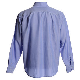 Clerical shirt in sky blue polyester cotton s2