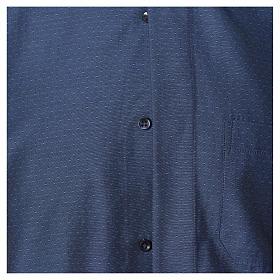 Camicia clergy cotone poliestere blu manica lunga s4