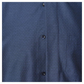 Blue Clergy shirt with long sleeves in cotton and polyester s4