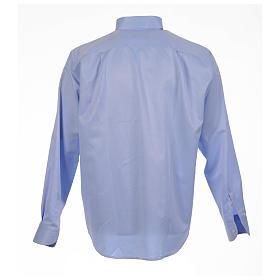 Camisa clergy jacquard celeste manga larga s2