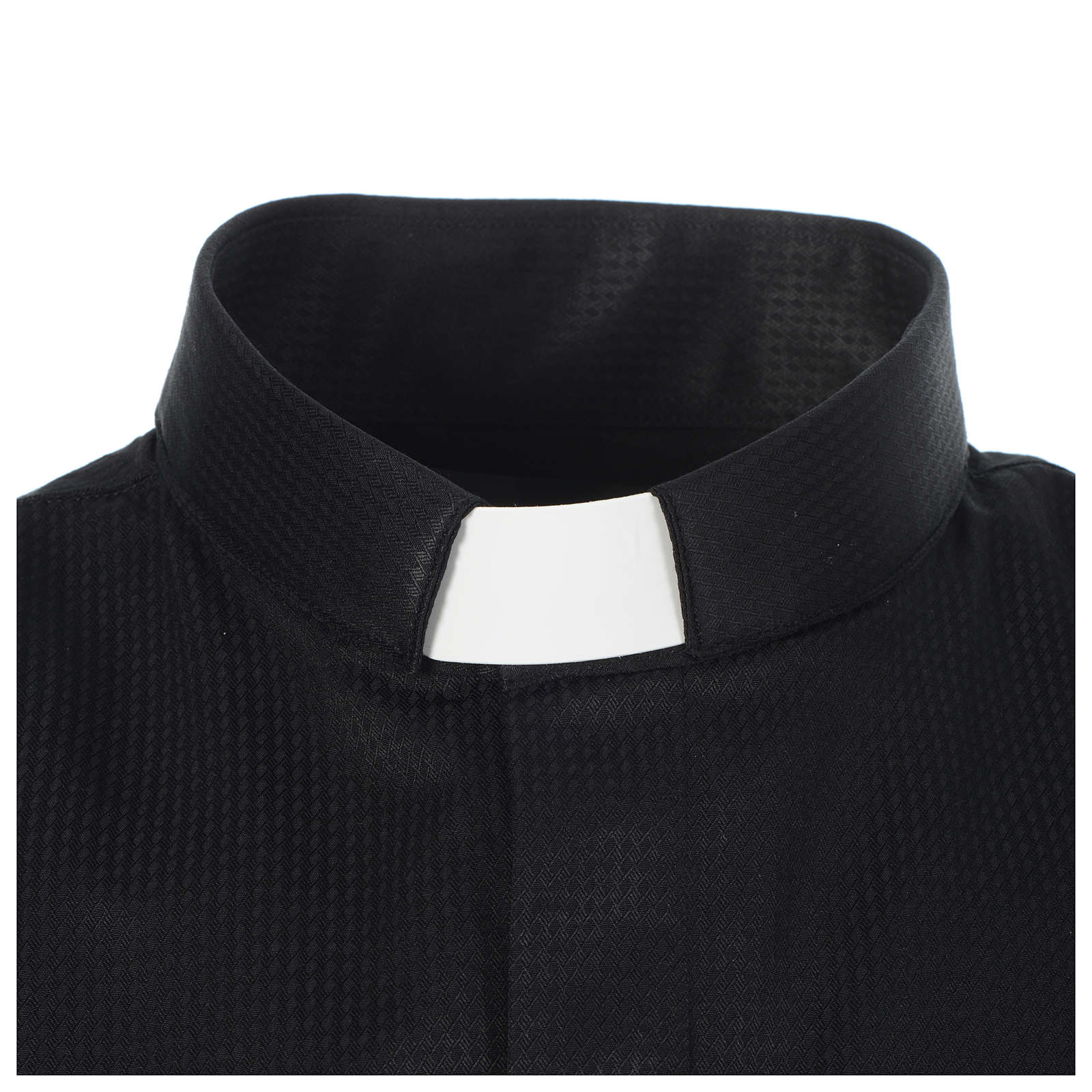 Black Jacquard tab collar shirt, long sleeve 4