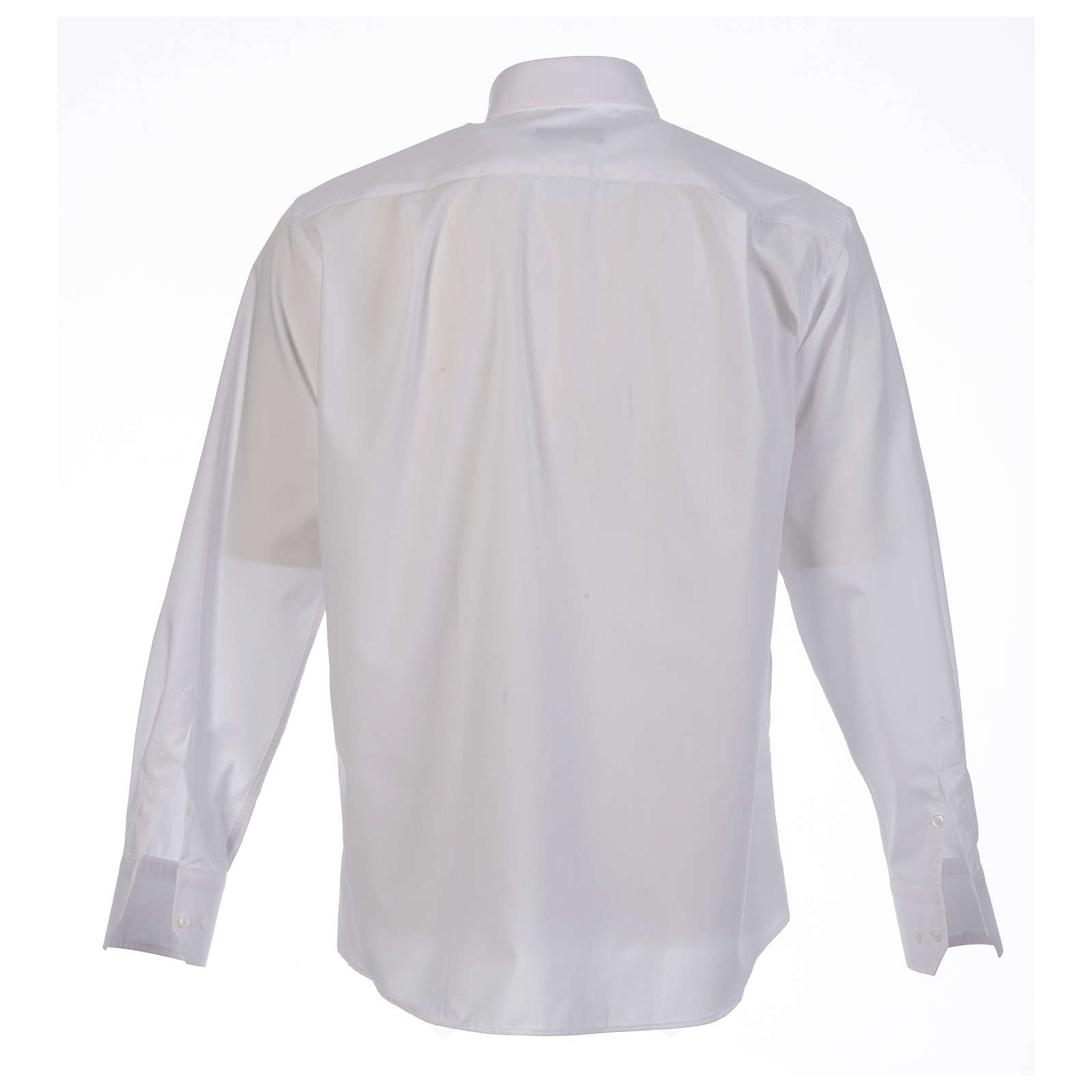 Clergy shirt solid colour and diagonal white long sleeve 4