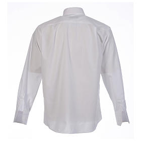 Clergy shirt solid colour and diagonal white long sleeve s2