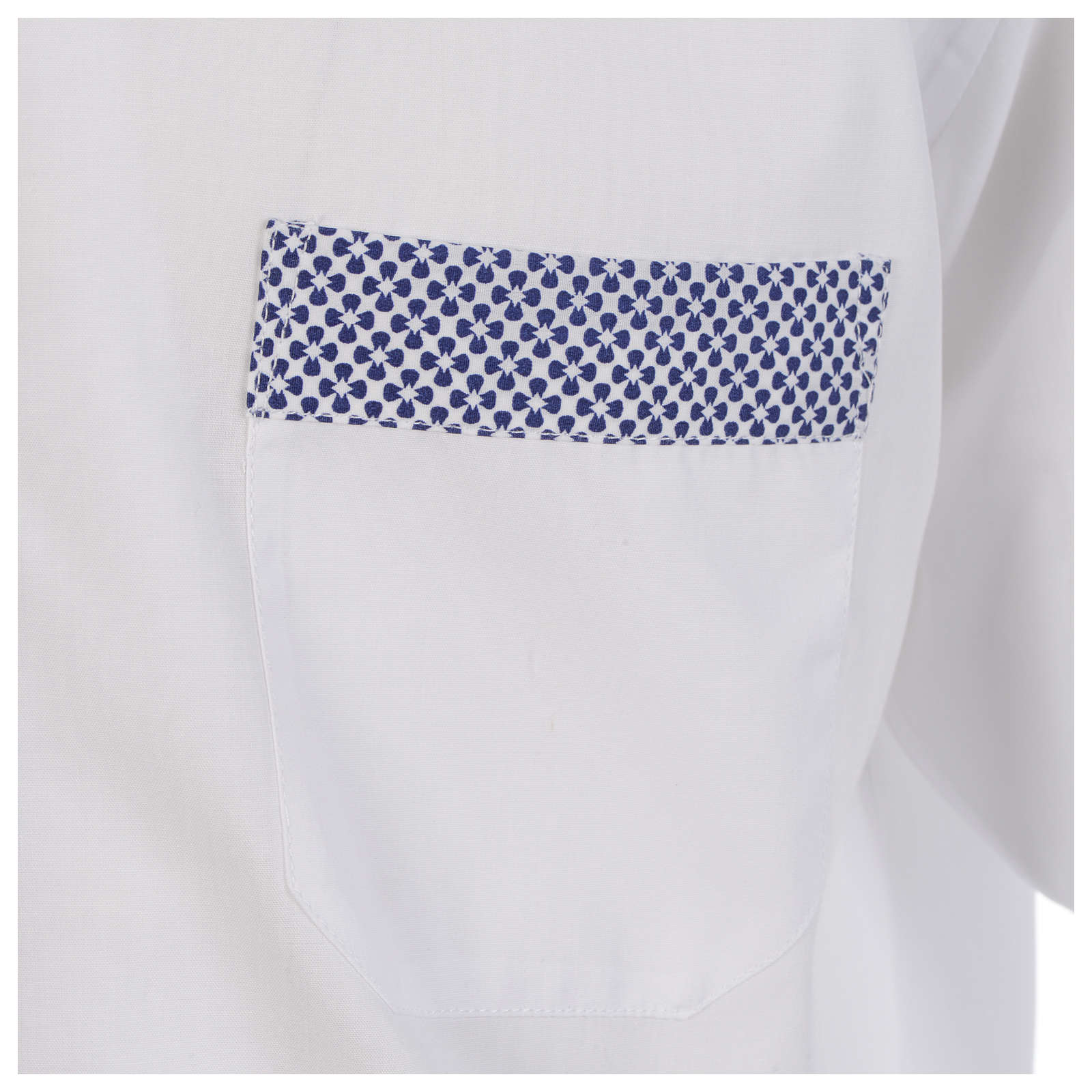 Camisa clergy sacerdote cruces blanco manga larga contraste 4