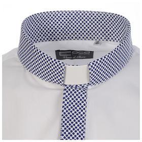 Camisa clergy sacerdote cruces blanco manga larga contraste s3
